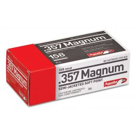 Image of Aguila Centerfire 357 Mag 158 grain Semi-Jacketed Hollow Point Pistol Ammo, 50/Box - 1E572821