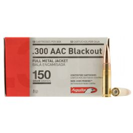 Image of Aguila Centerfire 300 AAC Blackout 150 grain Full Metal Jacket Rifle Ammo, 50/Box - 1E300110
