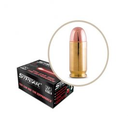 Image of Ammo Inc STREAK 9mm 147gr TMJ Tracer Practice Ammo, 20 Rounds - 9147TMC-STRK-RED