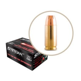 Image of Ammo Inc STREAK 9mm 115gr JHP Tracer Defensive Ammo, 20 Rounds - 9115JHP-STRK-RED