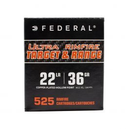 Image of Federal 22LR 36gr CPHP 525 Round Copper Coated Hollow Point Bulk Ammo Pack - UTR2236