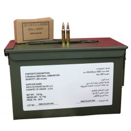 Image of Federal American Eagle 5.56x45mm NATO 62gr FMJ 820rd Ammo Can - ZSAM855MOI