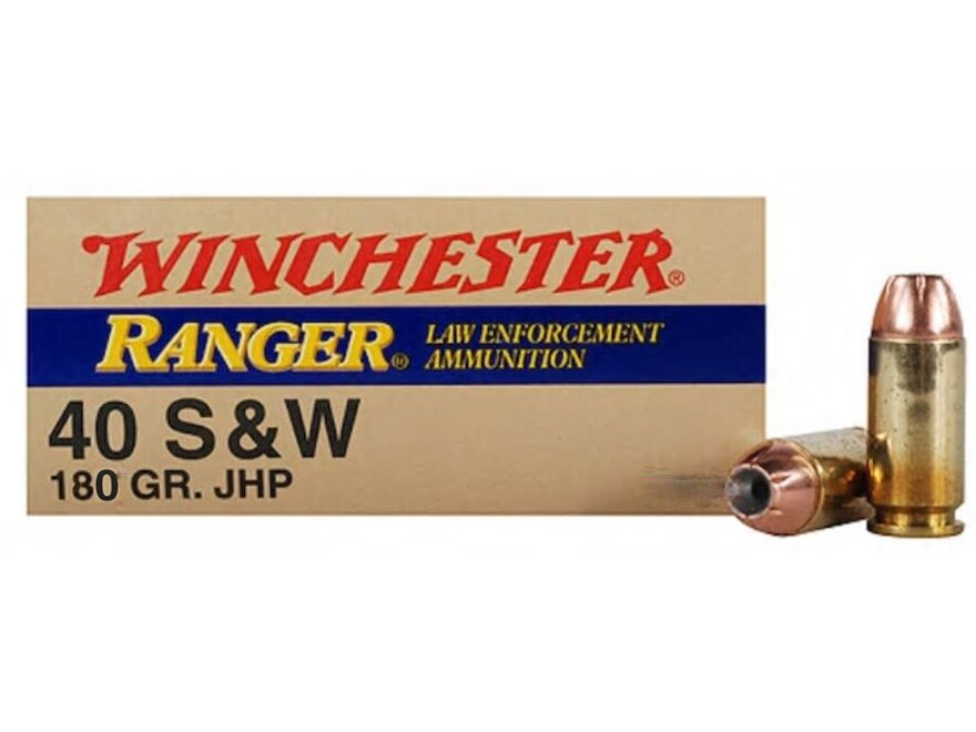 Image of Winchester Ranger Ammunition 40 S&W 180 Grain Jacketed Hollow Point Box of 50