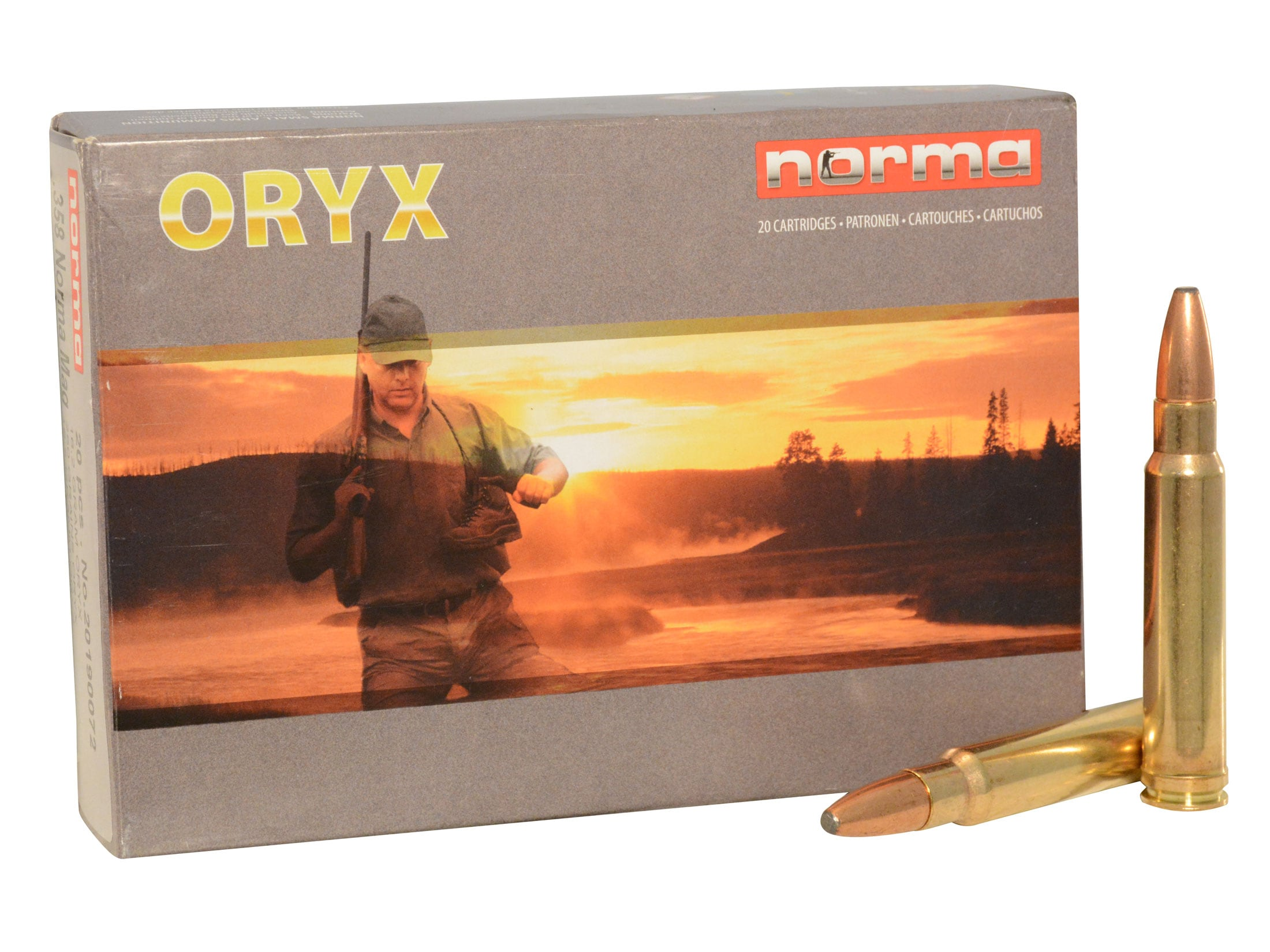 Image of Norma American PH Ammunition 358 Norma Magnum 250 Grain Oryx Protected Point Box of 20