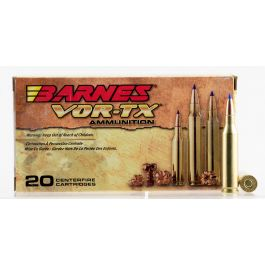 Image of Barnes Bullets VOR-TX 80 gr Tipped TSX Boat Tail .243 Win Ammo, 20/box - 21522