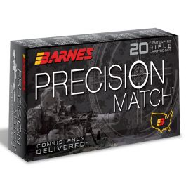 Image of Barnes Bullets Precision 112 gr Open Tip Match Boat Tail 6mm Creedmoor Ammo, 20/box - 0814