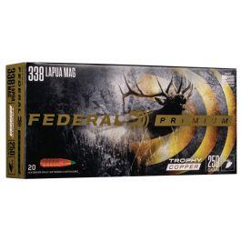 Image of Federal Premium 250 gr Trophy Copper .338 Lapua Mag Ammo, 20/box - P338LTC1