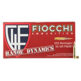 Image of Fiocchi Range Dynamics 55 gr Full Metal Jacket Boat Tail .223 Rem Ammo, 1000 Rounds - 223ARD