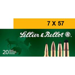 Image of Sellier & Bellot 140 gr Semi-Jacketed Soft Point 7x57mm Mauser Ammo, 20/box - SB757B