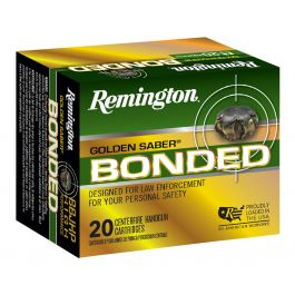 Image of Remington Golden Saber 125 gr Bonded Brass Jacketed Hollow Point .357 Sig Ammo, 20/box - GSB357SBB