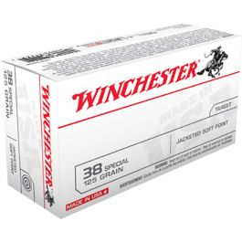Image of Winchester Ammunition Super-X 125 gr Jacketed Soft Point .38 Spl Ammo, 50/box - USA38SP