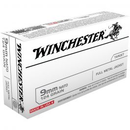 Image of Winchester Ammunition 124 gr FMJ 9mm Ammo, 150 Rounds/box - USA9NATO