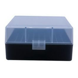 Image of Berrys Bullets 005 .223 Rem/5.56 100 Round Flip-Top Ammo Box, Clear/Black - 03856