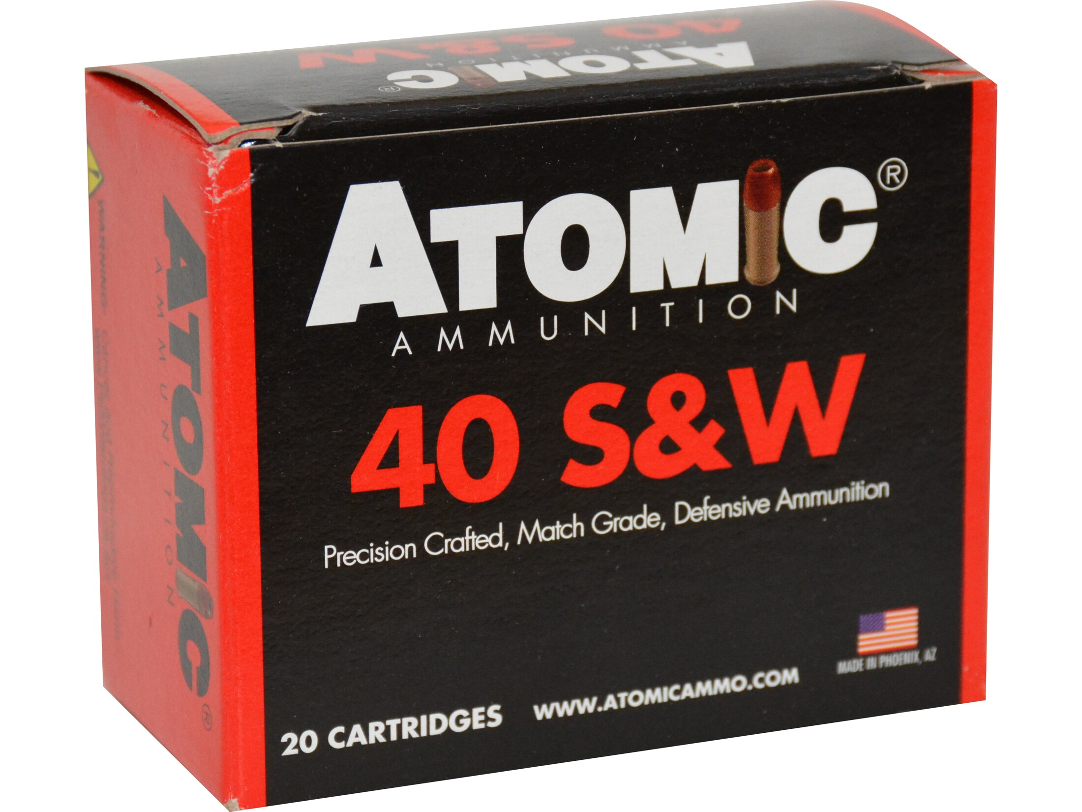 Image of Atomic Ammunition Ammunition 40 S&W 155 Grain Jacketed Hollow Point Box of 20
