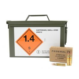 Image of Federal 5.56x45mm NATO 55gr. FMJ Ammo Can, 1100rds - ZTNFC193