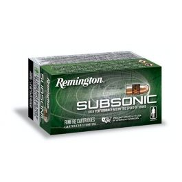 Image of Remington 22 Subsonic Ammo .22 LR 40 gr HP 100 Rounds - S22HP1A
